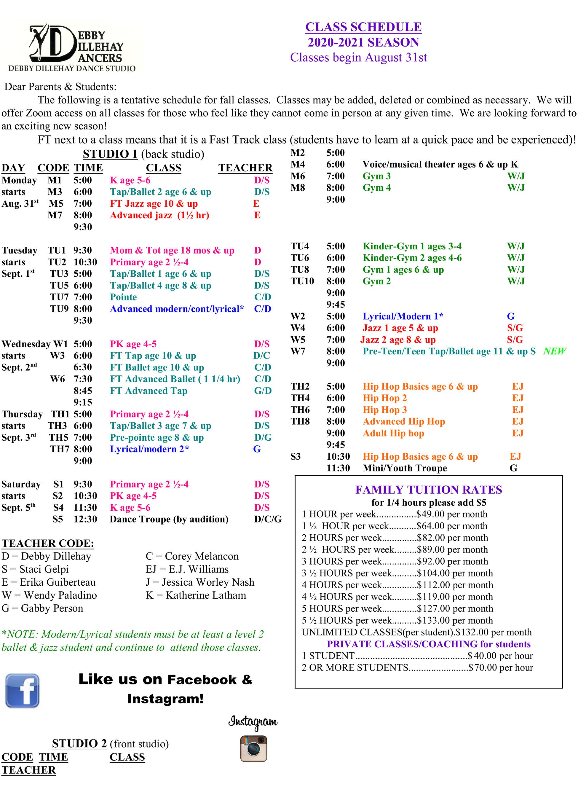 Class-Schedule-2020